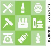 filled food icon set such as... | Shutterstock .eps vector #1091376941