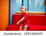 happy laughing boy 1 2 years... | Shutterstock . vector #1091380649