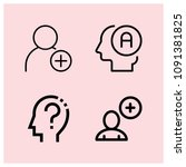 outline profile icon set such...   Shutterstock .eps vector #1091381825