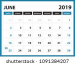 Desk Calendar For June 2019...