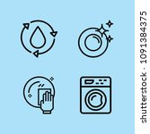 outline cleaning icon set such... | Shutterstock .eps vector #1091384375
