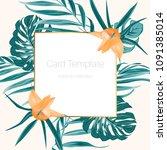 rectangular square golden... | Shutterstock .eps vector #1091385014