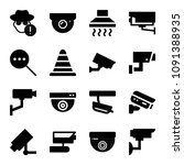 filled security icon set such... | Shutterstock .eps vector #1091388935