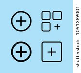 outline add icon set such as... | Shutterstock .eps vector #1091389001