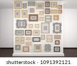 different frames on a white... | Shutterstock . vector #1091392121