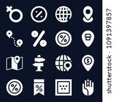 signs icon set   filled... | Shutterstock .eps vector #1091397857