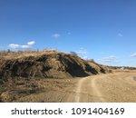 lake sandy beach sky blue nature   Shutterstock . vector #1091404169