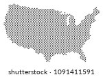 pixel usa map. vector... | Shutterstock .eps vector #1091411591