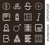 signs icon set   outline... | Shutterstock .eps vector #1091419235