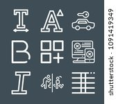 signs icon set   outline... | Shutterstock .eps vector #1091419349