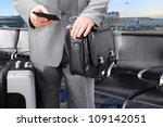 traveling businessman calling... | Shutterstock . vector #109142051