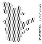 pixel quebec province map....   Shutterstock .eps vector #1091422127