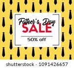 fathers day sale. discount... | Shutterstock . vector #1091426657