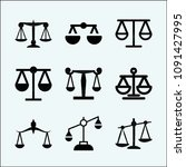 justice related set of 9 icons... | Shutterstock .eps vector #1091427995