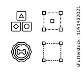 shapes related set of 4 icons... | Shutterstock .eps vector #1091432021