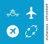 plane related set of 4 icons... | Shutterstock .eps vector #1091434049