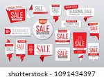 red sale banner. big collection.... | Shutterstock .eps vector #1091434397