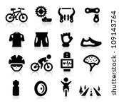 biking icon | Shutterstock .eps vector #109143764