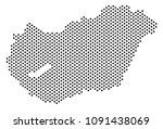 dot hungary map. vector... | Shutterstock .eps vector #1091438069