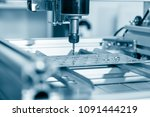 cnc milling machine working ... | Shutterstock . vector #1091444219