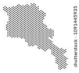 dot armenia map. vector... | Shutterstock .eps vector #1091445935