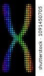 dot bright halftone chromosome... | Shutterstock .eps vector #1091450705