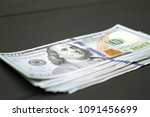 dollars money cash on black... | Shutterstock . vector #1091456699