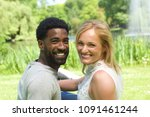 beautiful love couple in the... | Shutterstock . vector #1091461244
