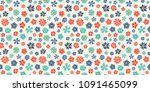 beautiful pastel coloured... | Shutterstock .eps vector #1091465099
