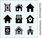 house related set of 9 icons... | Shutterstock .eps vector #1091468795