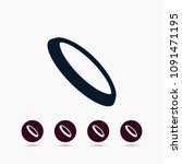 frisbee icon. simple game... | Shutterstock .eps vector #1091471195