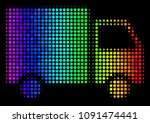 pixelated colorful halftone... | Shutterstock .eps vector #1091474441