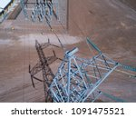 electrical tower inspection... | Shutterstock . vector #1091475521