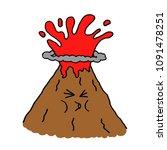 eruption volcano. vector...   Shutterstock .eps vector #1091478251
