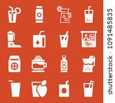 filled set of 16 juice icons... | Shutterstock .eps vector #1091485835