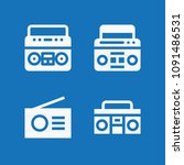 filled set of 4 radio icons... | Shutterstock .eps vector #1091486531