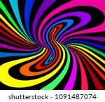 psychedelic vector illustration ... | Shutterstock .eps vector #1091487074