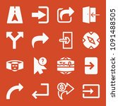 filled set of 16 arrow icons... | Shutterstock .eps vector #1091488505