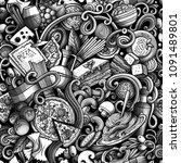 cartoon cute doodles hand drawn ...   Shutterstock .eps vector #1091489801
