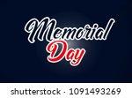 happy memorial day sticker... | Shutterstock .eps vector #1091493269