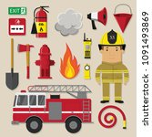 Firefighter Man And Equipment...
