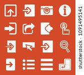 filled set of 16 buton icons... | Shutterstock .eps vector #1091495141