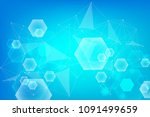 hexagonal abstract background.... | Shutterstock .eps vector #1091499659