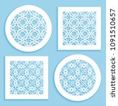 templates for laser cutting ... | Shutterstock .eps vector #1091510657