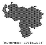 hexagonal venezuela map. vector ... | Shutterstock .eps vector #1091513375