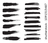 set of black brushes.... | Shutterstock .eps vector #1091515487