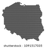 hexagon poland map. vector...   Shutterstock .eps vector #1091517035