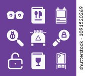 set of 9 other filled icons... | Shutterstock .eps vector #1091520269