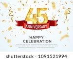45 years anniversary vector...   Shutterstock .eps vector #1091521994