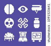set of 9 medical filled icons...   Shutterstock .eps vector #1091523641